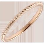 achat en ligne Anneau Corde d'or - or rose