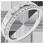 Anneau Féérie - Couronne d'Étoiles - petit modèle - or blanc 18 carats