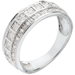 cadeau femme Anneau Féérie - Galaxie - 0.28 carat - 33 diamants