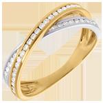 cadeau femmes Anneau tandem pavé - 0.26 carats - 43 diamants