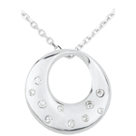 sell on line AP1534 - White Gold and Diamond Oracle Necklace