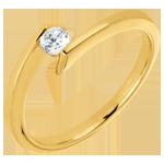 Goldschmuck AP2140 - Solitär-Ring Prinzessin Sterntaler in Gelbgold