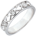buy Apolyne Wedding Band with 3 Diamonds - 18 carats
