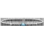 Juwelier Armband Auge des Orients - Blauer Topas und Diamanten - 9 Karat Weißgold