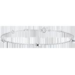 Geschenk Armband Blüte - Rosenkränzchen - Saphir - Weißgold - 18 Karat