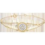 Verkauf Armband Fleur de Sel - Kranz - Gelbgold und Diamanten
