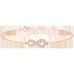 Armband Infinity - roze goud en diamanten - 9 karaat