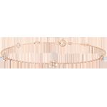 huwelijk Armband Ontluiken - Kroon van rozen - diamanten - roze goud 9 karaat