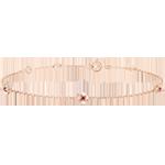 Armband Ontluiking - Kroon van rozen - robijn - rozégoud 9 karaat