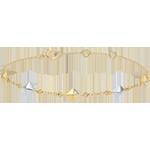 Geschenke Frauen Armband Schöpfung - Rohdiamanten- 2-er Gold - 5 Motive