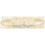 Geschenke Frauen Armband Verzauberter Garten - Königliches Blattwerk - Gelbgold und Diamanten - 9 Karat