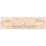 Geschenk Frauen Armband Verzauberter Garten - Königliches Blattwerk - Rotgold und Diamanten - 18 Karat