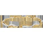 Geschenk Frauen Armband Wellen des Nil - Weißgold und Gelbgold mit Diamanten
