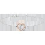 Armband wit en roze goud en diamanten - Medeplichtige Harten