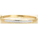 Juweliere Armreif diorama in Gelbgold - 0.25 Karat - 23 Diamanten