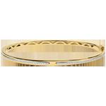 Geschenk Armreif Versprechen - Gelbgold und Diamanten - 9 Karat