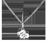 Geschenk Baby Schlange - Großes Modell - Weißgold - 9 Karat