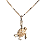 present Baby turtle - large model - yellow gold