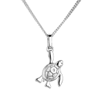 Baby turtle - small model - white gold