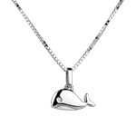 Baby Whale - large model - white gold