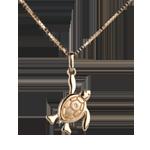 Babyschildpad - groot model - 9 karaat geelgoud