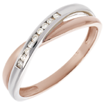 mariages Bague alliance Isis or rose or blanc et diamants