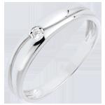 acheter en ligne Bague Amour or blanc et diamant - diamant 0.022 carat - 9 carats