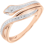 achat on line Bague Balade Imaginaire - Serpent Envoutant - or rose et diamants - 18 carats