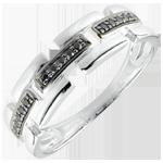 achat en ligne Bague Clair Obscur - Chemin Secret - or blanc - petit modèle 18 carats