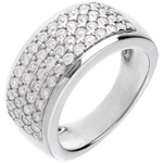 Bague Constellation - Astrale - grand modèle - or blanc 18 carats - 1.01 carats - 56 diamants