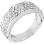achat on line Bague Constellation - Astrale variation - or blanc pavée - 0.72 carat