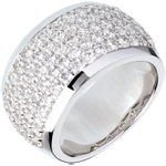 joaillerie Bague Constellation - Paysage Céleste - or blanc pavé - 2.05 carats - 79 diamants
