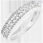 Bague Destinée - Diane - or blanc 9 carats et diamants
