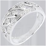bijouterie bague Diane or blanc et diamants