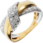 achat Bague Double Noeud - or blanc et or jaune 18 carats