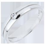 Bague Edenité or blanc 18 carats et diamant - 0.022 carat