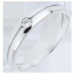 vente on line Bague Edenité or blanc et diamant - diamant 0.022 carat