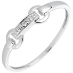 Bague equestria or blanc 18 carats et diamants