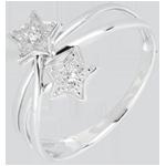 vente Bague étoiles filantes or blanc et diamants