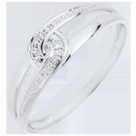 cadeau femme Bague Evita or blanc et diamant