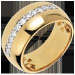 acheter en ligne Bague Féérie - Eclat solaire - or jaune - 11 diamants : 0.37 carats