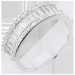 Bague Féérie - Lumière Infinie - 49 diamants : 1.63 carats - or blanc 18 carats