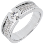 Bague de fiançailles Constellation - Diamant Solitaire - diamant 0.27 carat - or blanc 18 carats