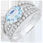 femme Bague de Fiançailles Destinée - Duchesse variation - topaze 1.5 carats et diamants - or blanc 18 carats