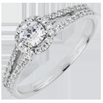 Bague de Fiançailles Destinée - Joséphine - diamant 0.3 carat - or blanc 18 carats