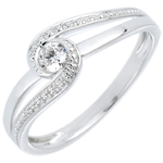 ventes en ligne Bague de fiançailles Nid Précieux - Preciosa - or blanc - diamant 0.12 carat - 18 carats