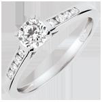 mariages Bague de Fiançailles Solitaire Altesse - diamant 0.4 carat - or blanc 18 carats