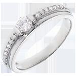 mariage Bague de Fiançailles Solitaire Destinée - Eugénie - diamant 0.22 carat
