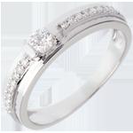 cadeau Bague de Fiançailles Solitaire Destinée - Eugénie - diamant 0.26 carat
