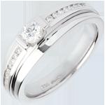 vente Bague de Fiançailles Solitaire Destinée - Eugénie variation - diamant 0.22 carat